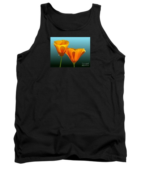 Tank Top featuring the painting Yellow Poppies by Rand Herron