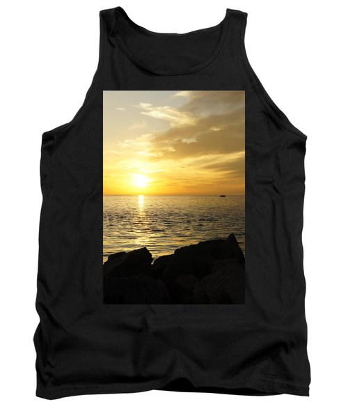 Yellow Sky Tank Top by Laurie Perry