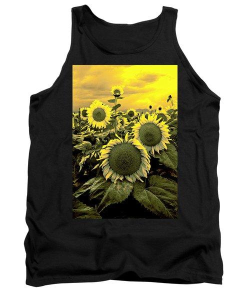 Yellow Sky Yellow Flowers. Tank Top