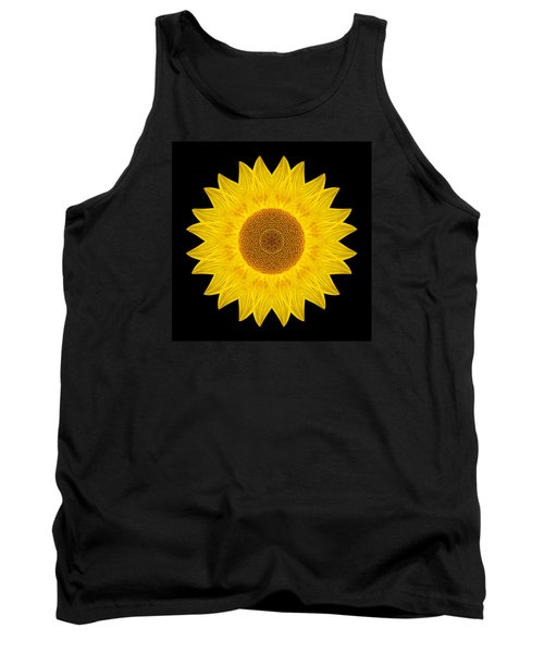 Yellow Sunflower Ix Flower Mandala Tank Top