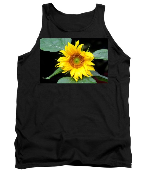 Yellow Sunflower Tank Top by Trina  Ansel