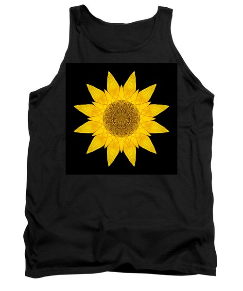 Yellow Sunflower X Flower Mandala Tank Top