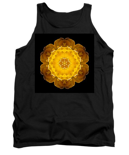 Yellow Tulip II Flower Mandala Tank Top