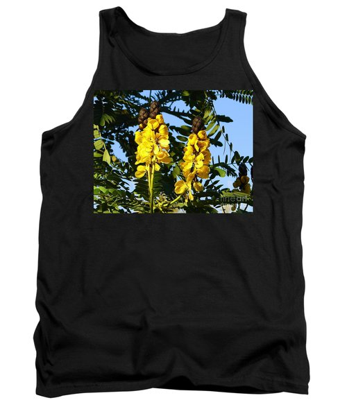 Tank Top featuring the photograph Yellow Twins by Lew Davis