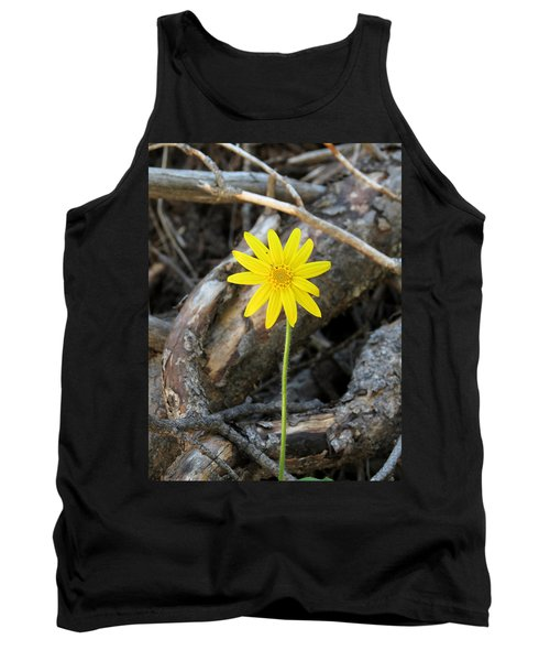 Tank Top featuring the photograph Yellow Wildflower by Laurel Powell