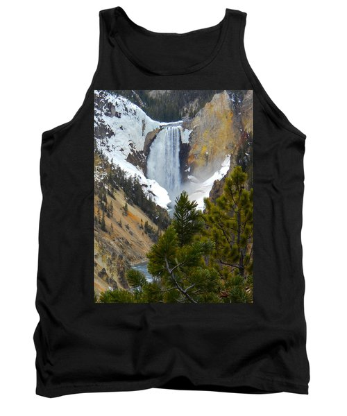 Tank Top featuring the photograph Yellowstone Lower Falls In Spring by Michele Myers