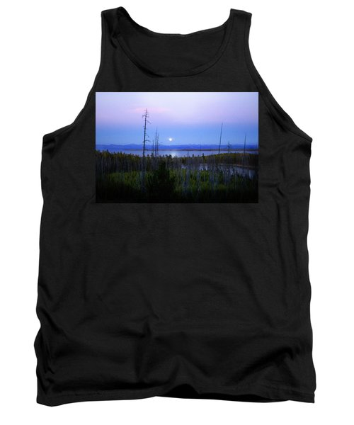 Tank Top featuring the photograph Yellowstone Moon by Ann Lauwers