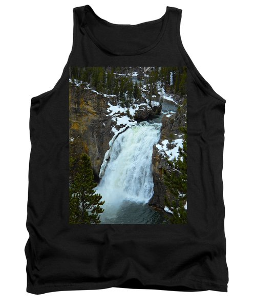 Tank Top featuring the photograph Yellowstone Upper Falls In Spring by Michele Myers