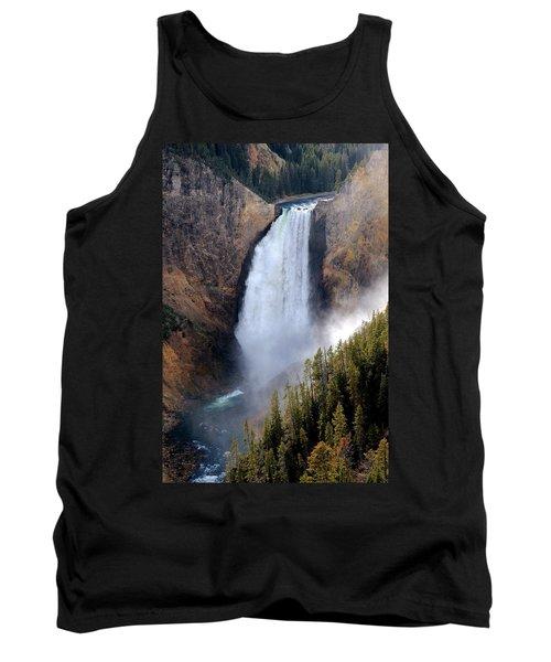 Lower Yellowstone Falls Tank Top by Athena Mckinzie