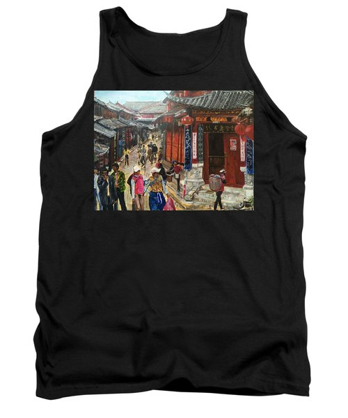 Tank Top featuring the painting Yesterday Once More by Belinda Low