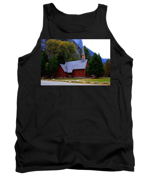 Tank Top featuring the photograph Yosemite Fall  Chapel  by Duncan Selby
