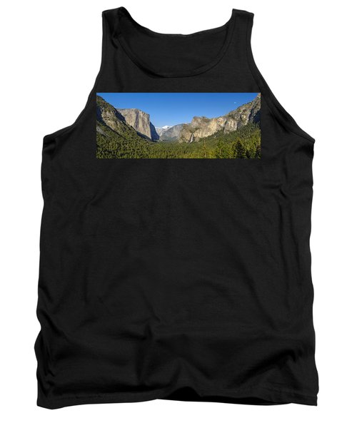 Tank Top featuring the photograph Yosemite Valley Moonrise by Steven Sparks