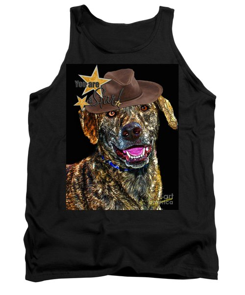 Tank Top featuring the digital art You Are A Star by Kathy Tarochione