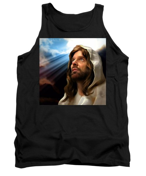 Tank Top featuring the painting You Are Loved by Karen Showell