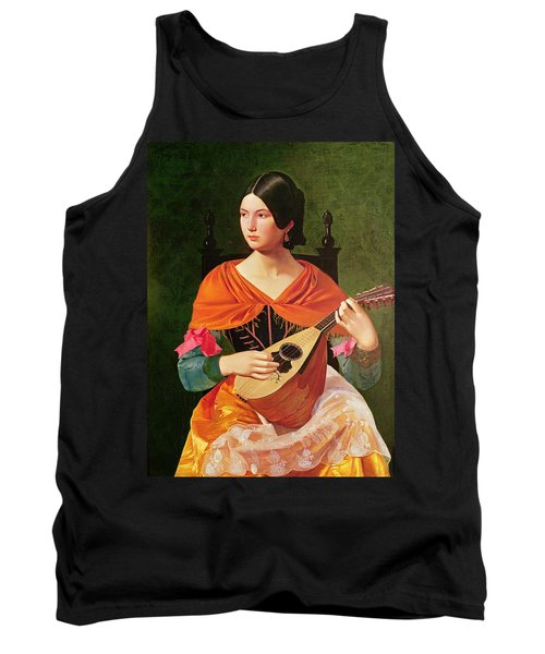 Young Woman With A Mandolin Tank Top