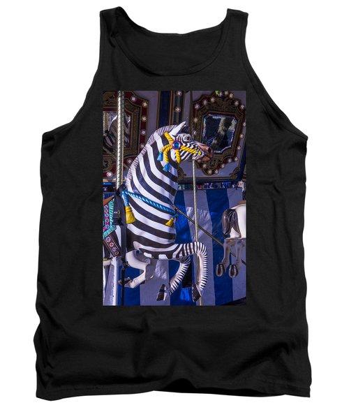 Zebra Merry-go-round Tank Top