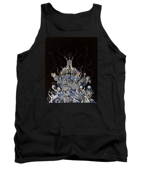 Tank Top featuring the mixed media Zebratiki by Douglas Fromm
