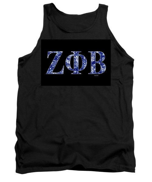 Tank Top featuring the digital art Zeta Phi Beta - Black by Stephen Younts