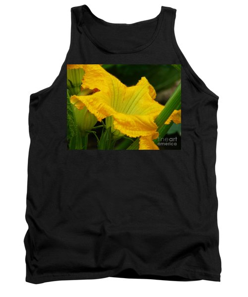 Tank Top featuring the photograph Zucchini Yellow by Lew Davis