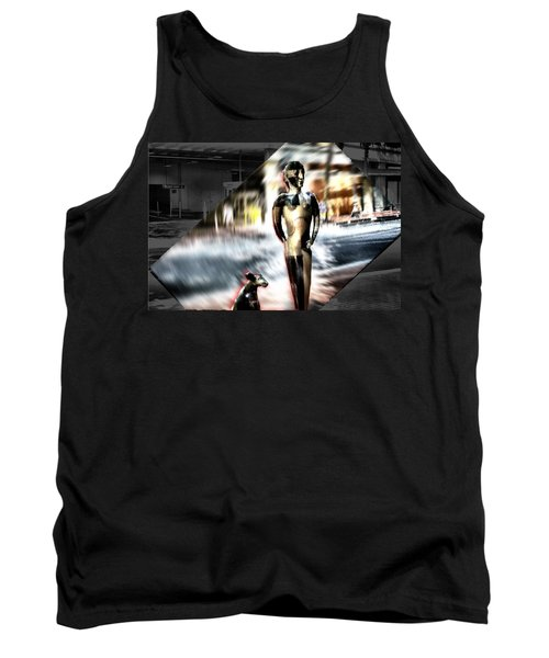 Tank Top featuring the mixed media  Critics by Terence Morrissey