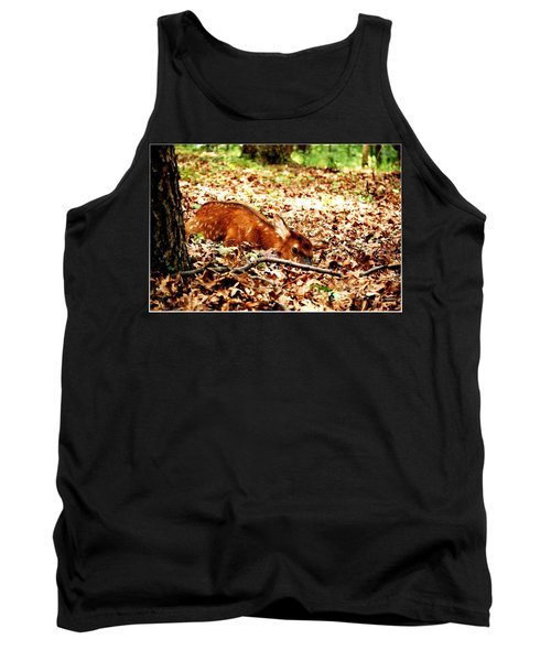 Tank Top featuring the photograph  Sweet Baby Elk by Peggy Franz
