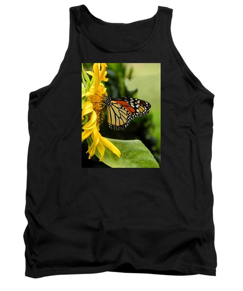 Monarch And The Sunflower Tank Top
