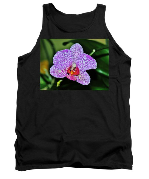 Tank Top featuring the photograph Purple Orchid by Sherman Perry
