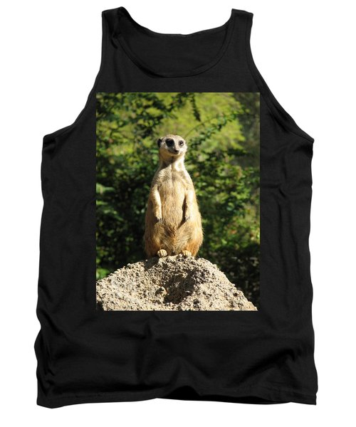 Tank Top featuring the photograph Sentinel Meerkat by Carla Parris