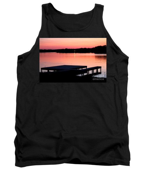 Tank Top featuring the photograph Sunset View From Dockside by Kathy  White