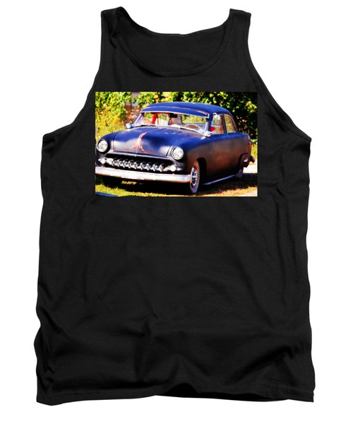 Tank Top featuring the photograph 1950 Ford  Vintage by Peggy Franz