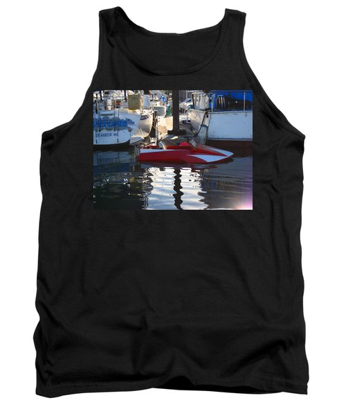 Tank Top featuring the photograph 1950's Custom Hydroplane by Kym Backland