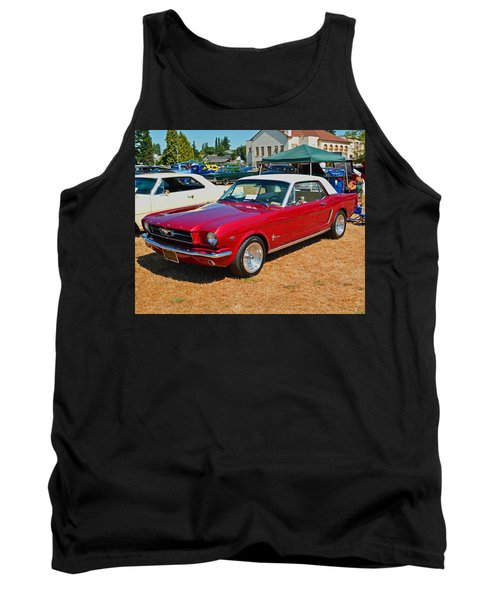 Tank Top featuring the photograph 1964 Ford Mustang by Tikvah's Hope
