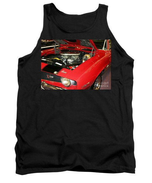 Tank Top featuring the photograph 1969 Z-28 Crossram With 9737 Copo Option by John Black