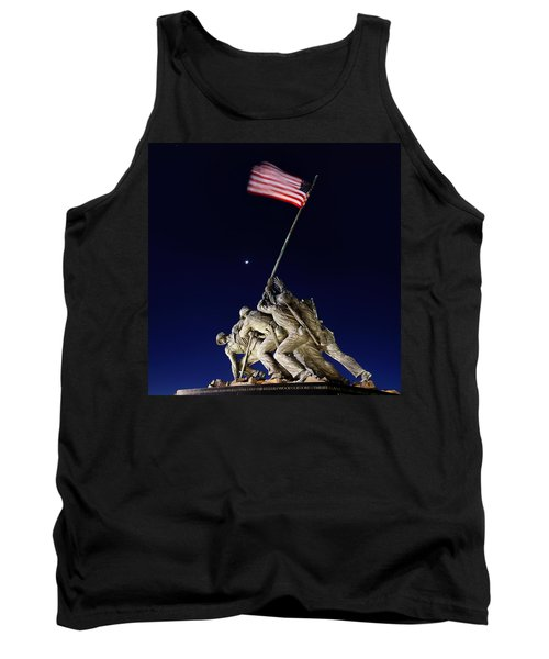 Iwo Jima Memorial At Dusk Tank Top