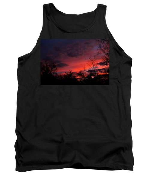 Tank Top featuring the photograph 2012 Sunrise In My Back Yard by Paul SEQUENCE Ferguson             sequence dot net