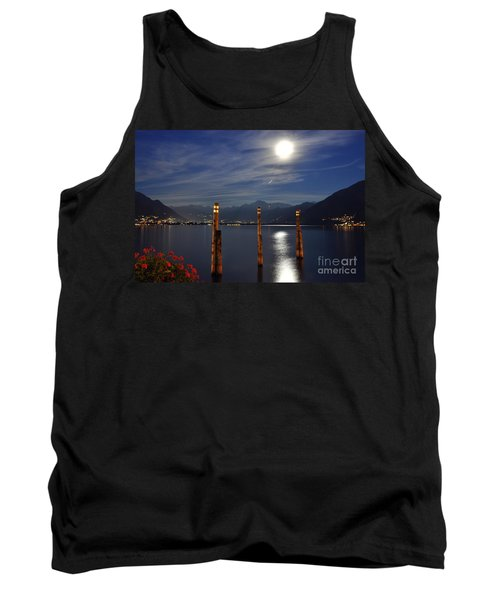 Moon Light Over An Alpine Lake Tank Top