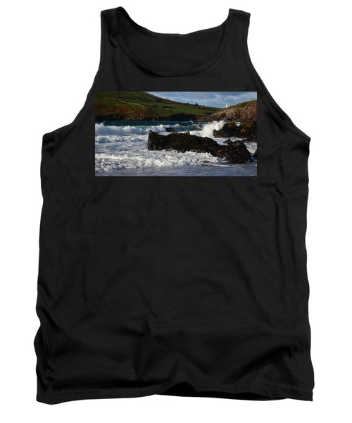 Tank Top featuring the photograph Beenbane Beach by Barbara Walsh