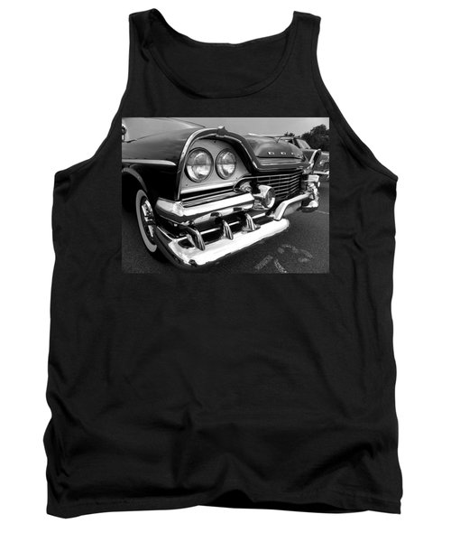 58 Plymouth Fury Black And White Tank Top