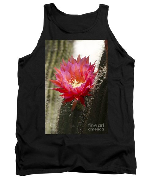 Red Cactus Flower Tank Top