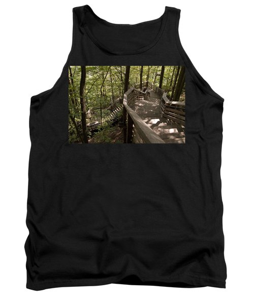 Tank Top featuring the photograph A Long Way Down by Jeannette Hunt