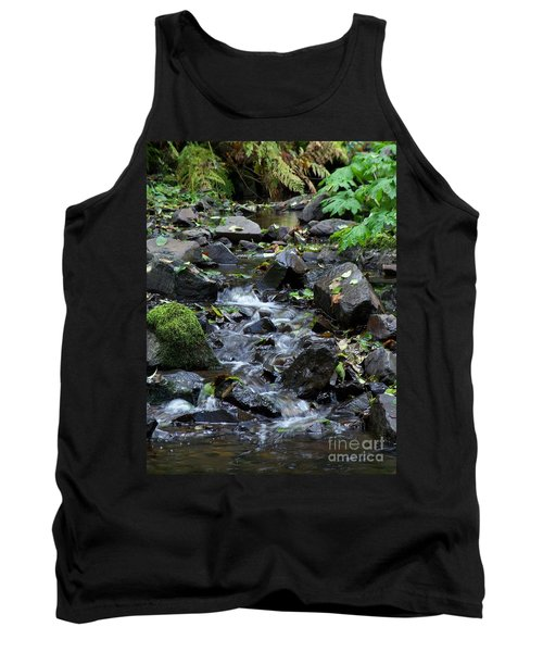 Tank Top featuring the photograph A Peaceful Stream by Chalet Roome-Rigdon