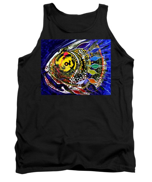 Abstract Busy Bee Fish Tank Top