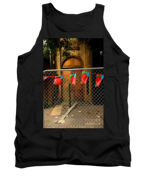 Tank Top featuring the photograph After The Quakes - No Go Zone by Nareeta Martin
