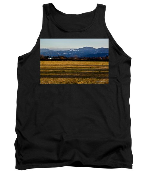 Afternoon Shadows Across A Rogue Valley Farm Tank Top by Mick Anderson