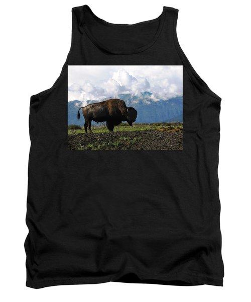Tank Top featuring the photograph Alaskan Buffalo by Katie Wing Vigil