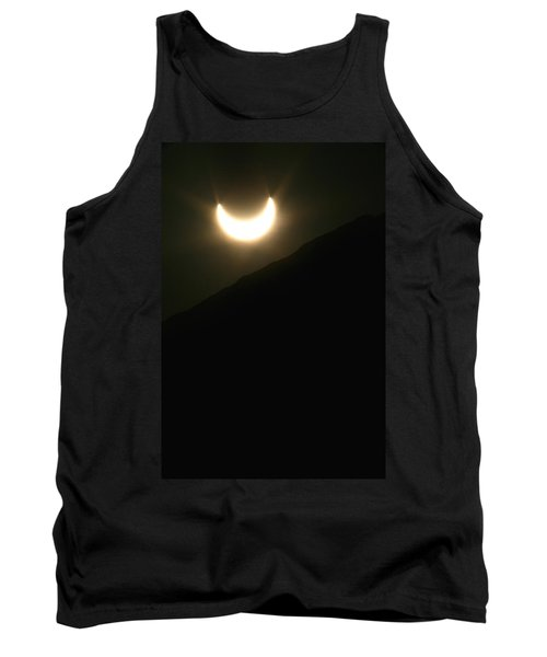 Tank Top featuring the photograph Annular Solar Eclipse At Sunset Number 1 by Lon Casler Bixby