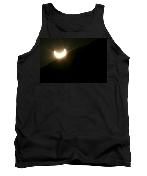 Tank Top featuring the photograph Annular Solar Eclipse At Sunset Number 2 by Lon Casler Bixby