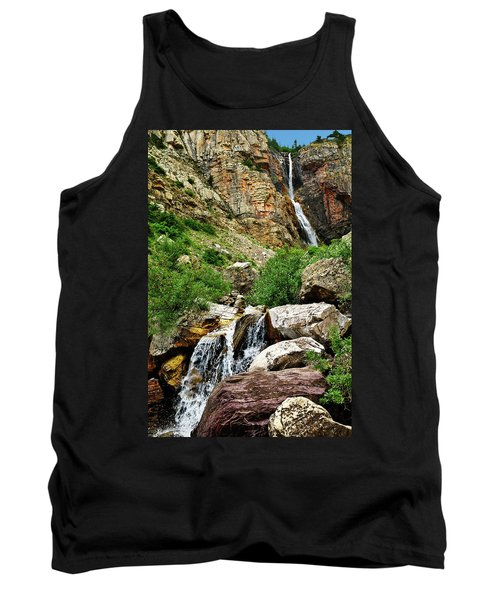Tank Top featuring the photograph Apikuni Falls by Greg Norrell