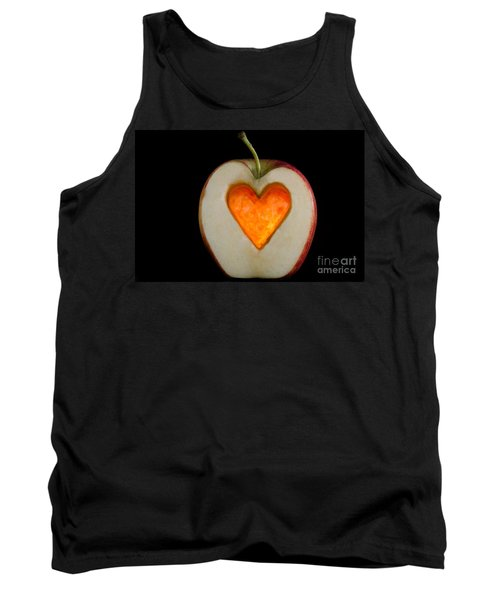 Apple With A Heart Tank Top