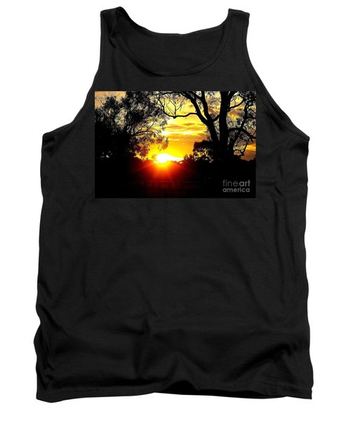 Tank Top featuring the photograph Aussie Sunset by Blair Stuart